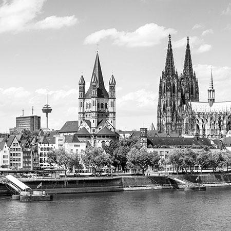 Skyline von Köln mit Dom